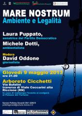 Riccione,mare,legalità,ambiente,Laura Puppato,Associazione Ilaria Alpi