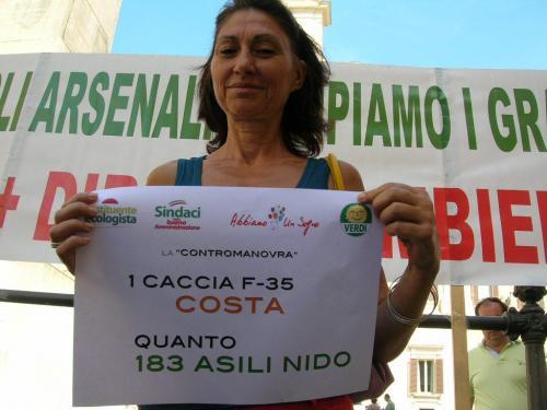 cacciabombardieri,asilo nido,manovra finanziaria,armi,spese,ecologisti e civici,Montecitorio