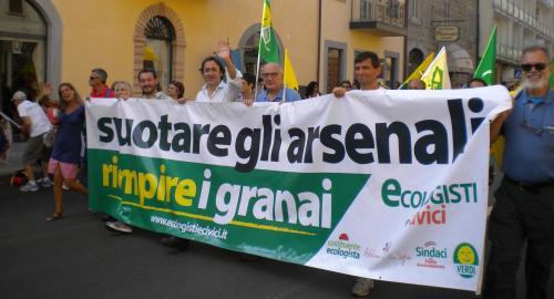 marcia per la pace,perugia,assisi,ecologisti e civici